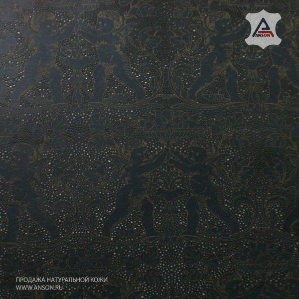 Кожаовчина с лазерной перфорацией и рисунком